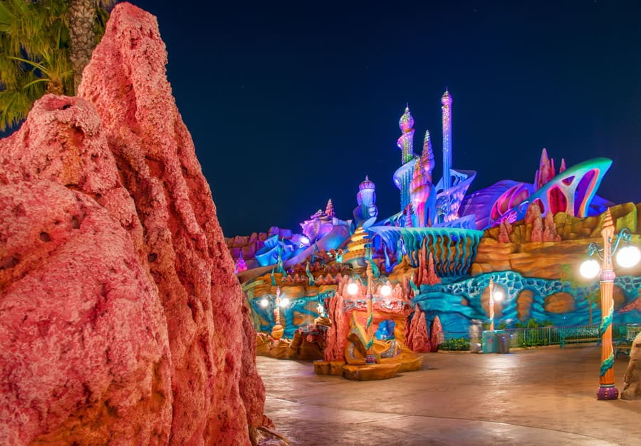 Disney Parks After Dark: Mermaid Lagoon Lights Up the Night at Tokyo DisneySea