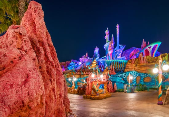 Mermaid Lagoon Lights Up The Night at Tokyo DisneySea