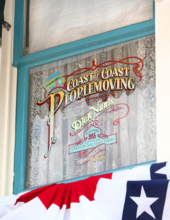 Windows on Main Street, U.S.A., at Disneyland Park: Dick Nunis