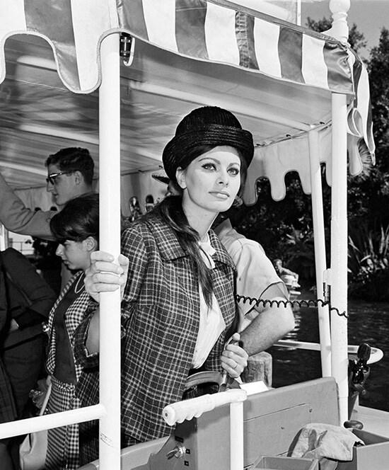 Sophia Loren Enjoying the Jungle Cruise at Disneyland Resort