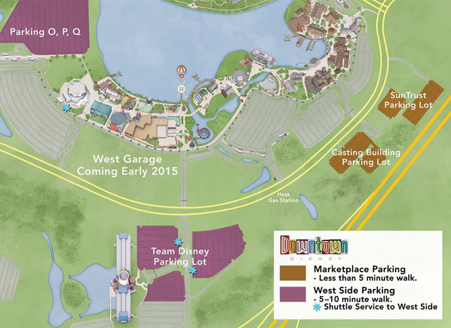 Disney Downtown Map on