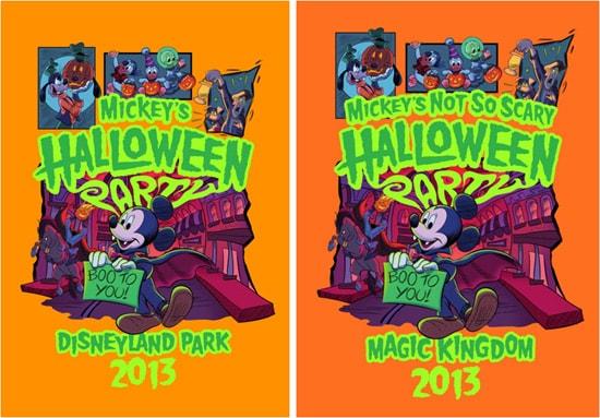Commemorative Halloween T-shirts at Disney Parks