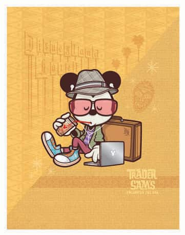 Hanging at Sam's,' from the Happiest Hipster on Earth Collection by Artist Jerrod Maruyama