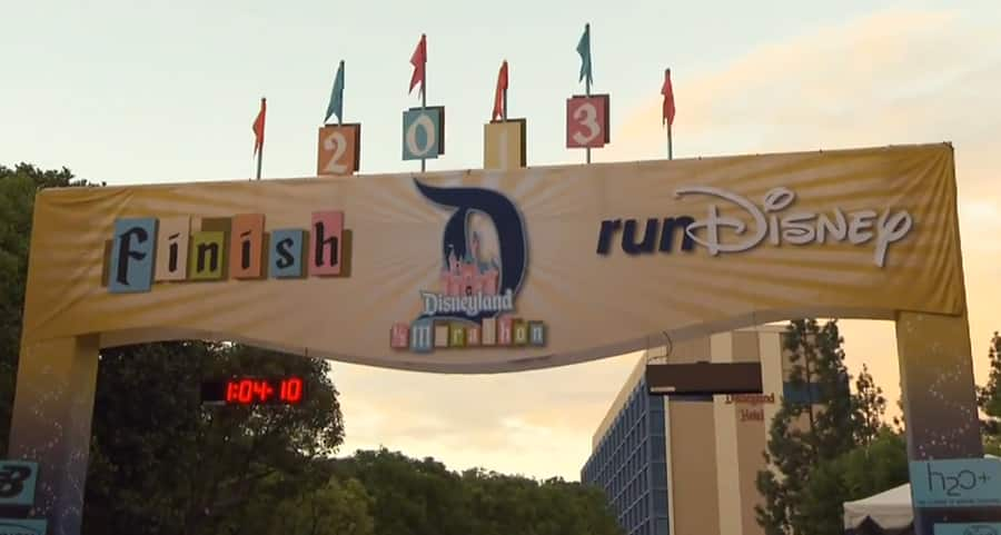 Crossing the Line at the Disneyland Half Marathon