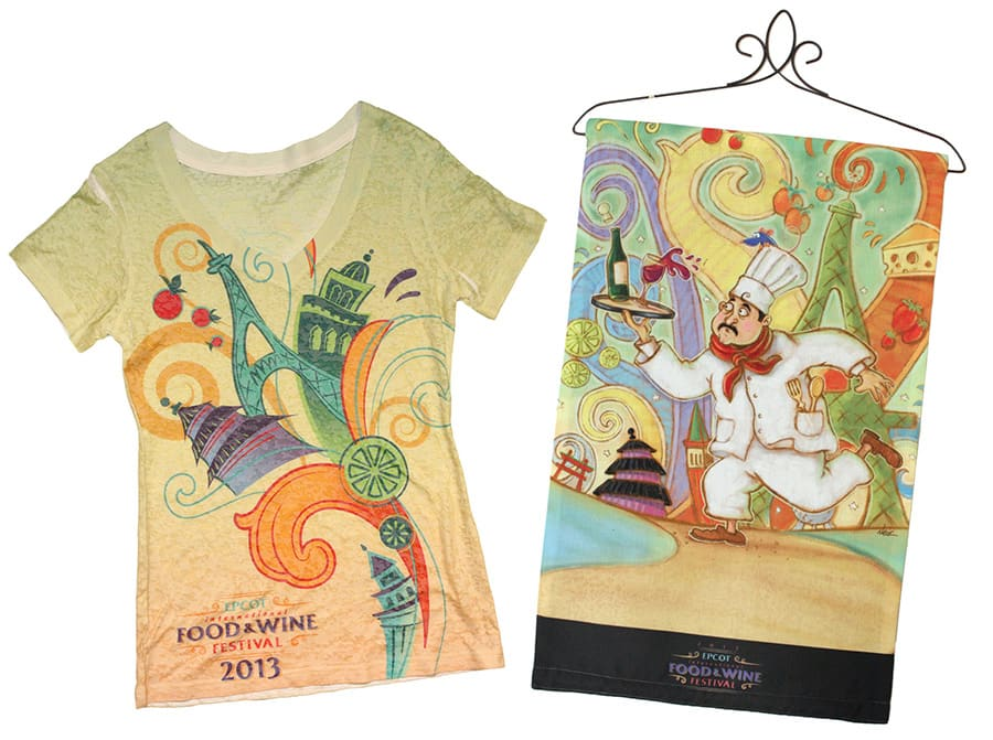 Chef's Name Revealed with a Second Look at 2013 Epcot International Food & Wine Festival Merchandise