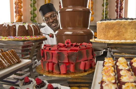 The Chocolate Fountain at Hollywood & Vine at Disney's Hollywood Studios