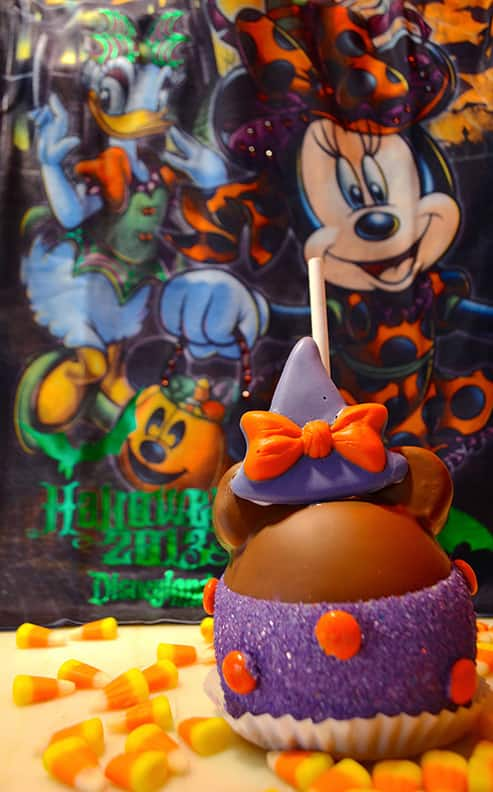 Halloween Minnie Caramel Apple at Disneyland Resort