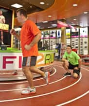 Guests Testing Footwear on Fit2Run's Indoor Track