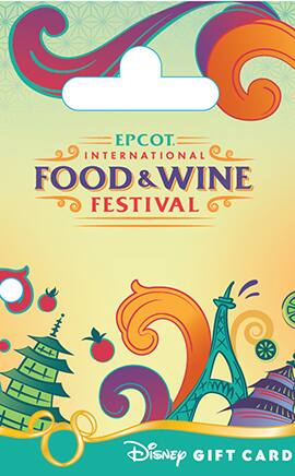 New Epcot International Food & Wine Festival Disney Gift Card is Convenient and Colorful
