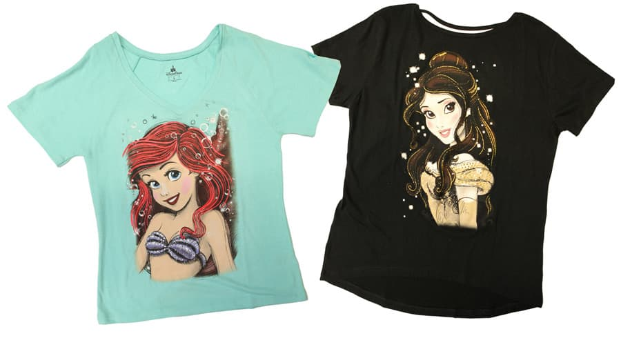 6de59b13 Ariel and Belle T-shirts Now Available at Disney Parks, Disney Princesses  ...