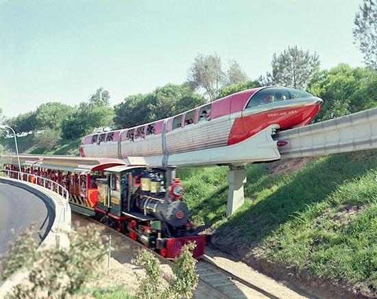The Disneyland Alweg Mark I Monorail and the Disneyland Railroad