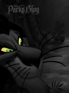 Disney Villain Wallpaper Featuring Scar from 'The Lion King'