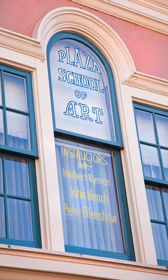 Windows on Main Street, U.S.A., at Disneyland Park: Herb Ryman