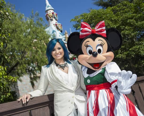 Demi Lovato at the Disneyland Resort for the 2013 Disney Parks Christmas Day Parade on ABC