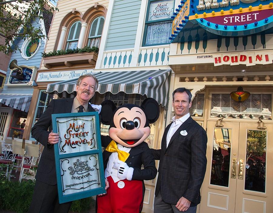 Disney Legend Tony Baxter Honored with Window on Main Street, U.S.A., at Disneyland Park