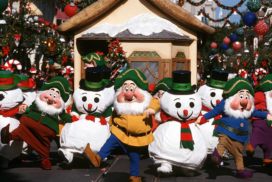 Caption This: A Flurry of Snowmen at Magic Kingdom Park