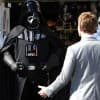 Neil Patrick Harris Comes Face To Face With The Dark Lord Of The Sith, Darth Vader, During A Production Number