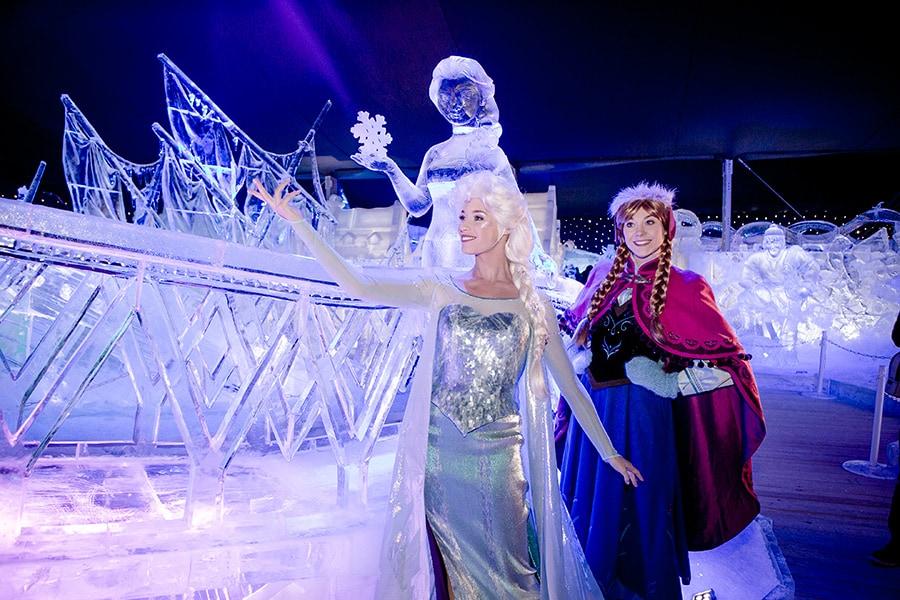 Disney S Frozen Inspired Ice Sculptures Wow Crowds At Belgium