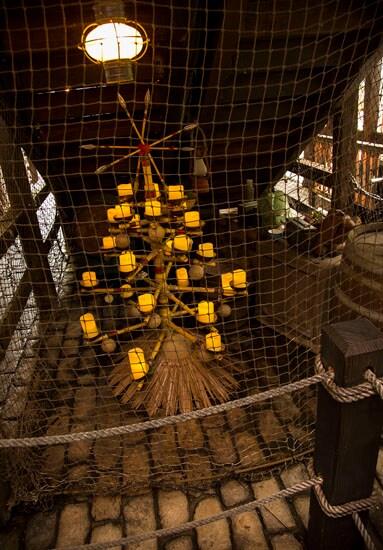 Christmas Tree at Jingle Cruise at Disneyland Park