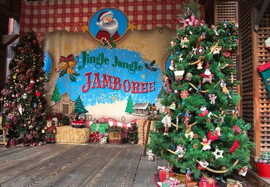 Christmas Trees at Jingle Jangle Jamboree at Disneyland Park