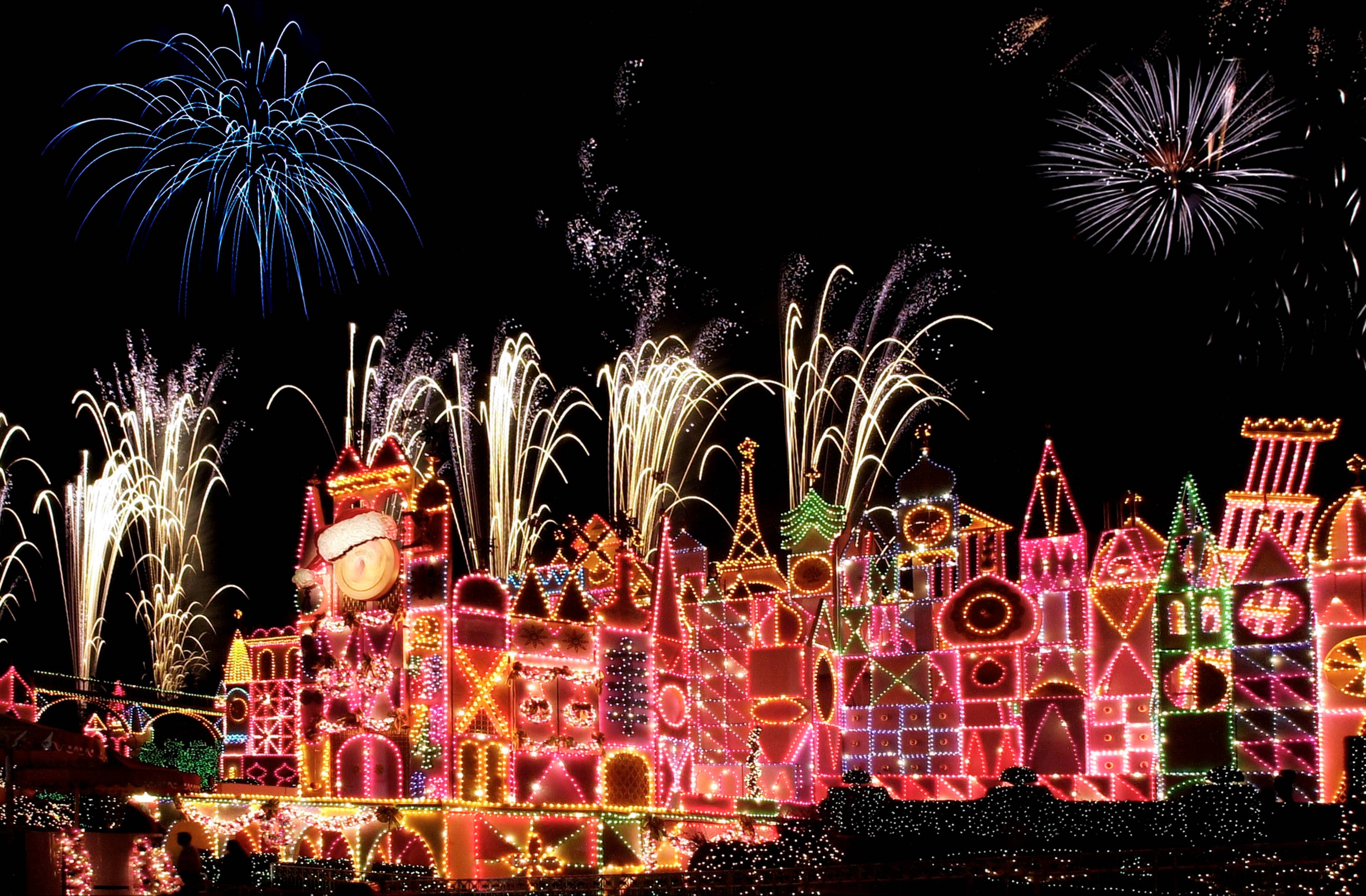 Image result for disneyland christmas fireworks