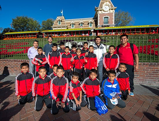 Triquis Kids Basketball Team Visits Disneyland Park