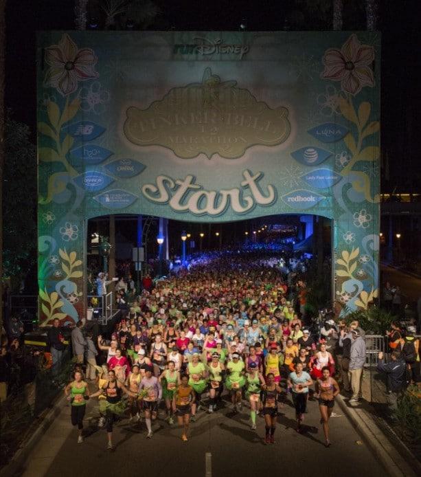 2014 Tinker Bell Half Marathon Start Line at the Disneyland Resort