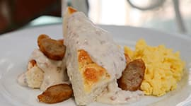 Biscuits And Gravy At River Belle Terrace In Disneyland Park