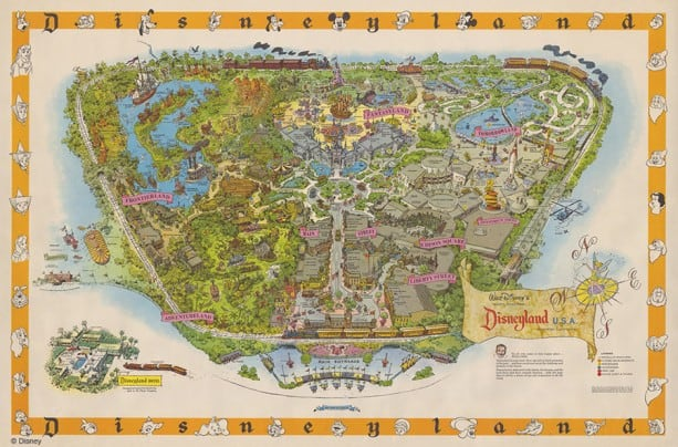 Disneyland Park Map Created by Sam McKim, Courtesy of the Walt Disney Imagineering Art Library