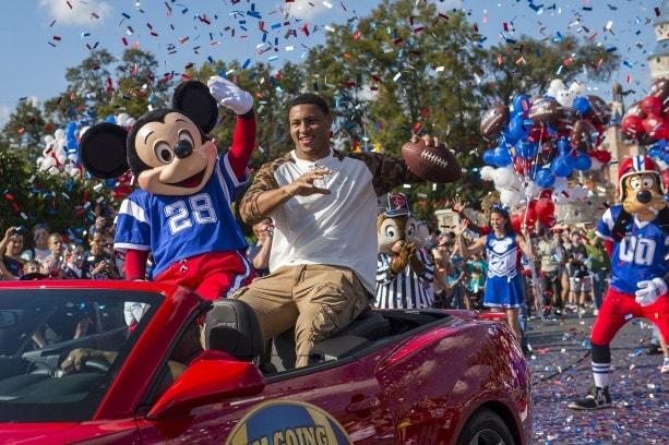 Super Bowl XLVII MVP Malcolm Smith at Disney World
