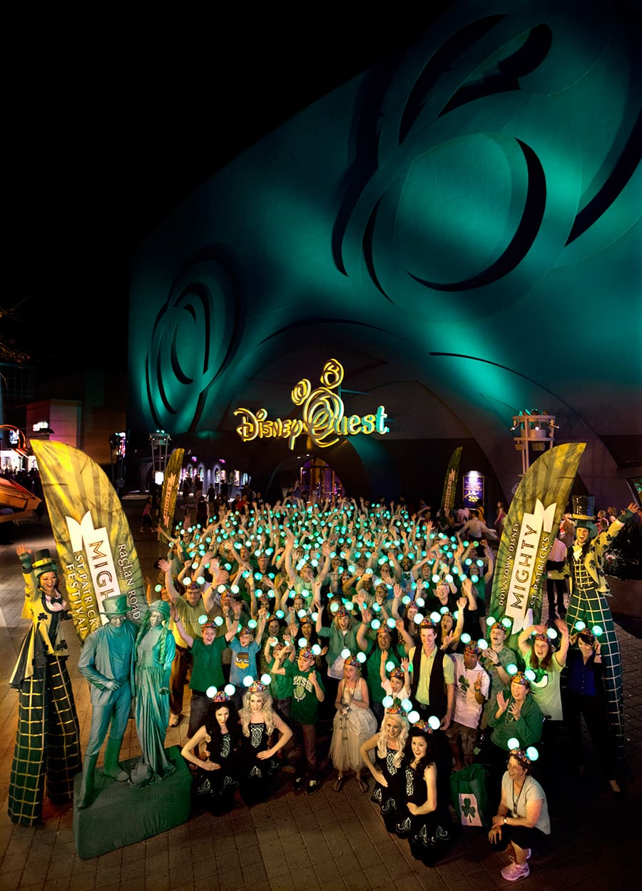 downtown disney turns green for st patrick s day at walt disney