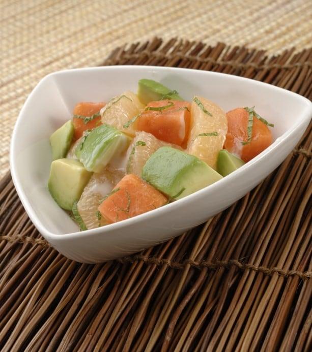 Papaya_ Avocado_ Grapefruit Salad