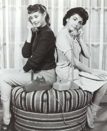 Roberta Shore and Annette