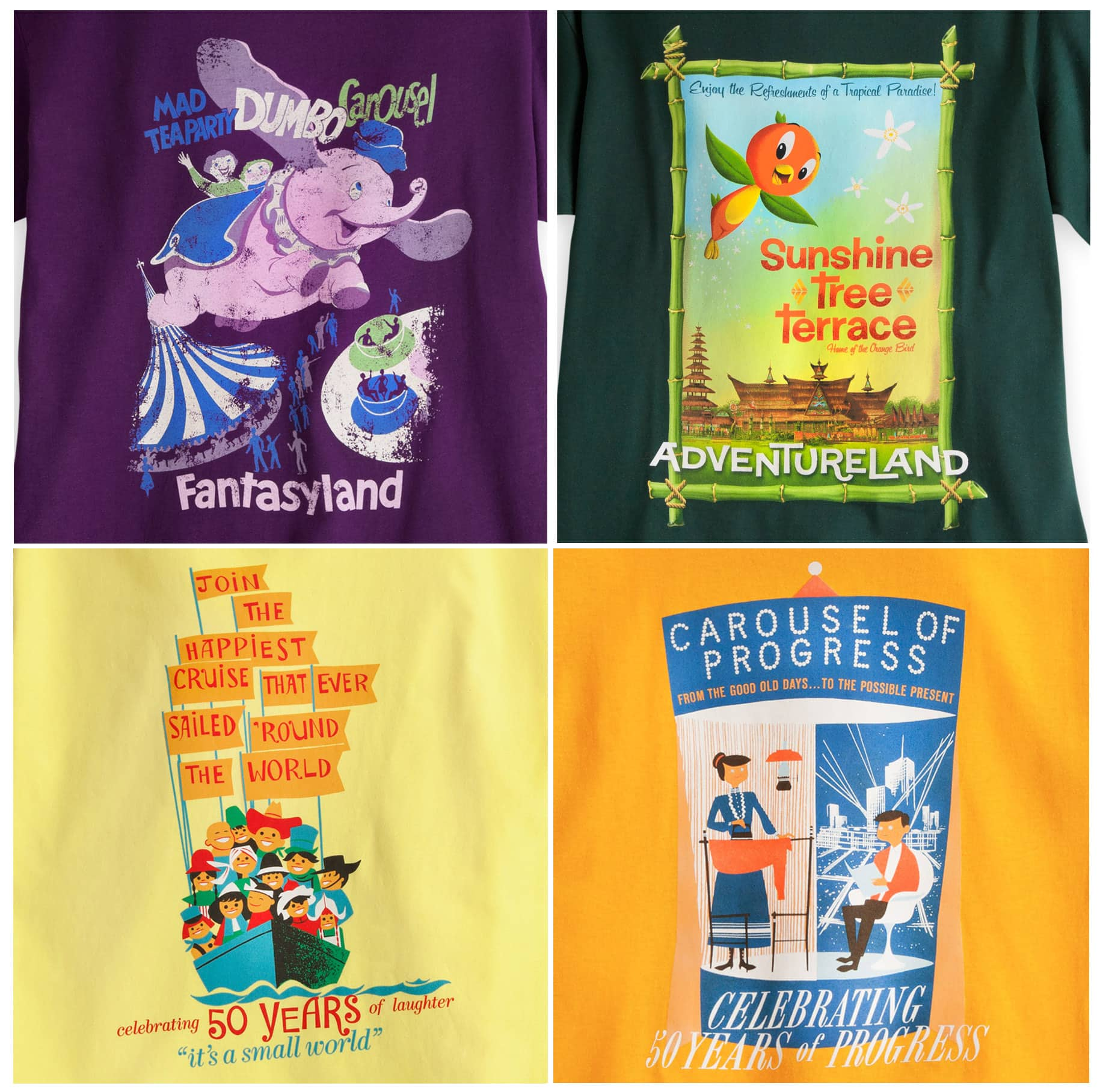 Four New Disney Attraction Poster-Inspired T-Shirts Coming to Disney Parks Online Store in April 2014