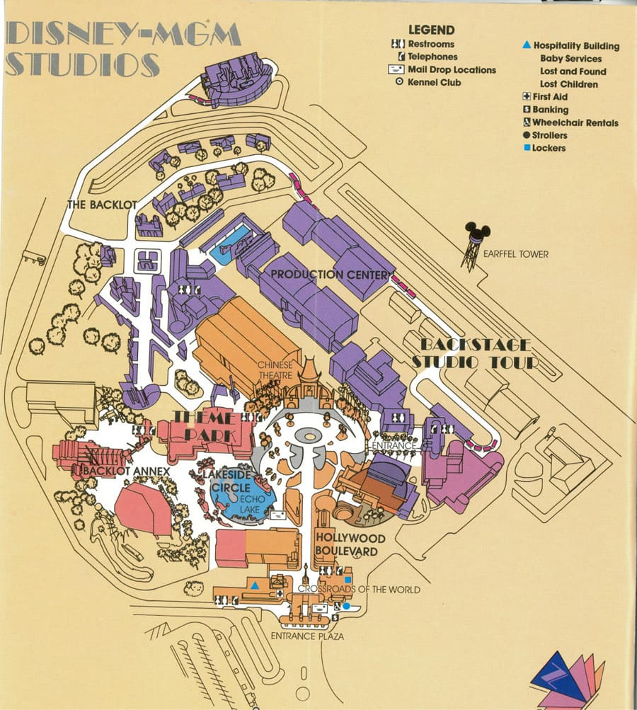Disney Hollywood Studios Map on