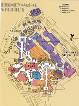 A \'Hollywood\' Classic: The Studios\' First Guide Map | Disney ...