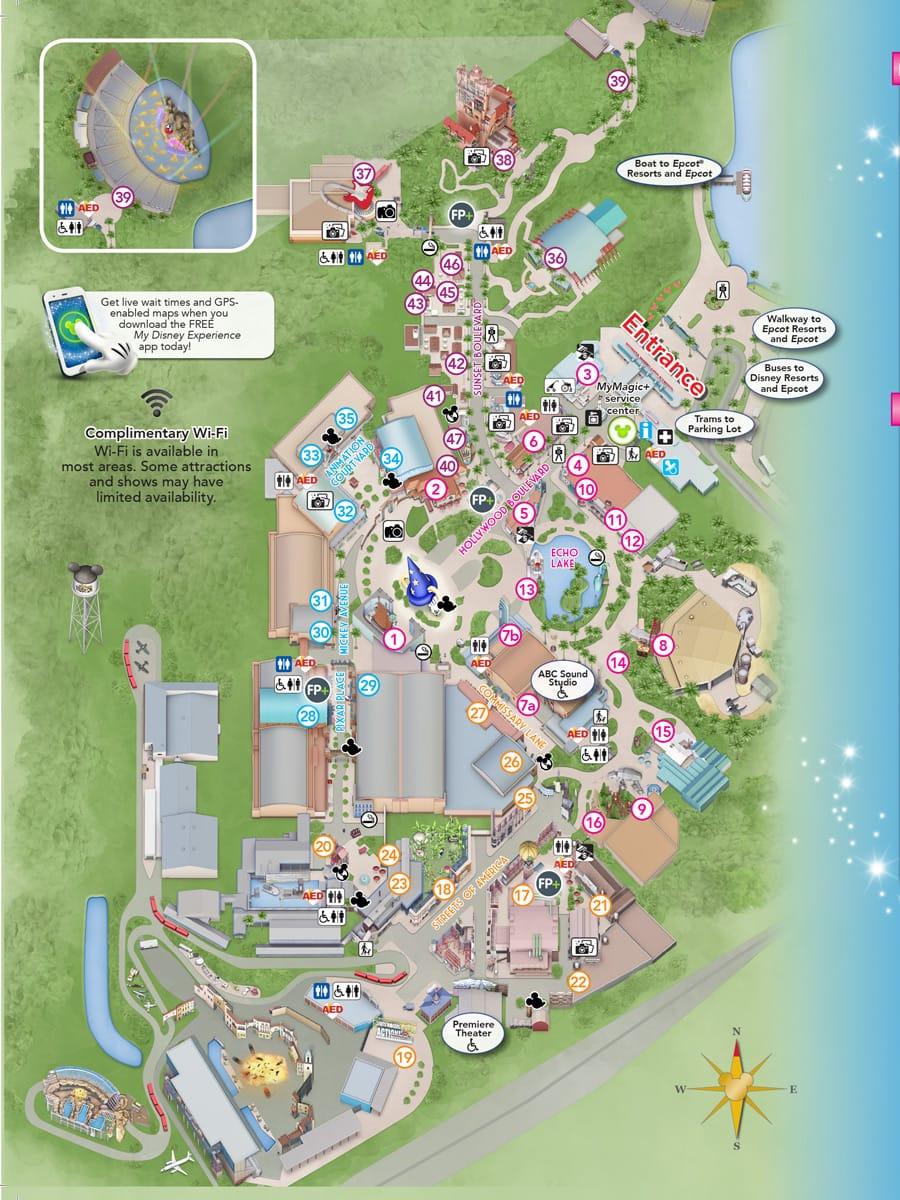 Disney World Hollywood Studios Map on