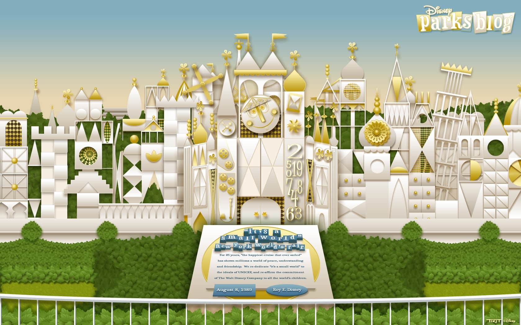Download Our Disney Parks Its A Small World Wallpaper