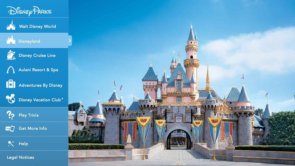 Disney Parks Launches Smart Tv App On Samsung Plans For Lg Disney Parks Blog