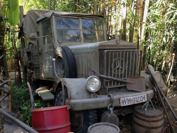 "Screen-used Mercedes Patrol Truck from ""Raiders of the Lost Ark"""