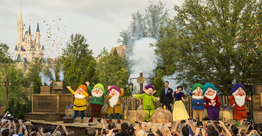 This Week in Disney Parks Photos: Seven Dwarfs Mine Train Dedication at Magic Kingdom Park