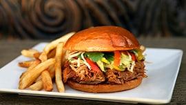 Slow-Roasted Kalua-Style Pork Sandwich at Tangaroa Terrace at the Disneyland Hotel