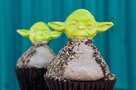 Star Wars-Themed Cupcakes from the 'Symphony in the Stars' Fireworks Dessert Party During Star Wars Weekends at Disney's Hollywood Studios