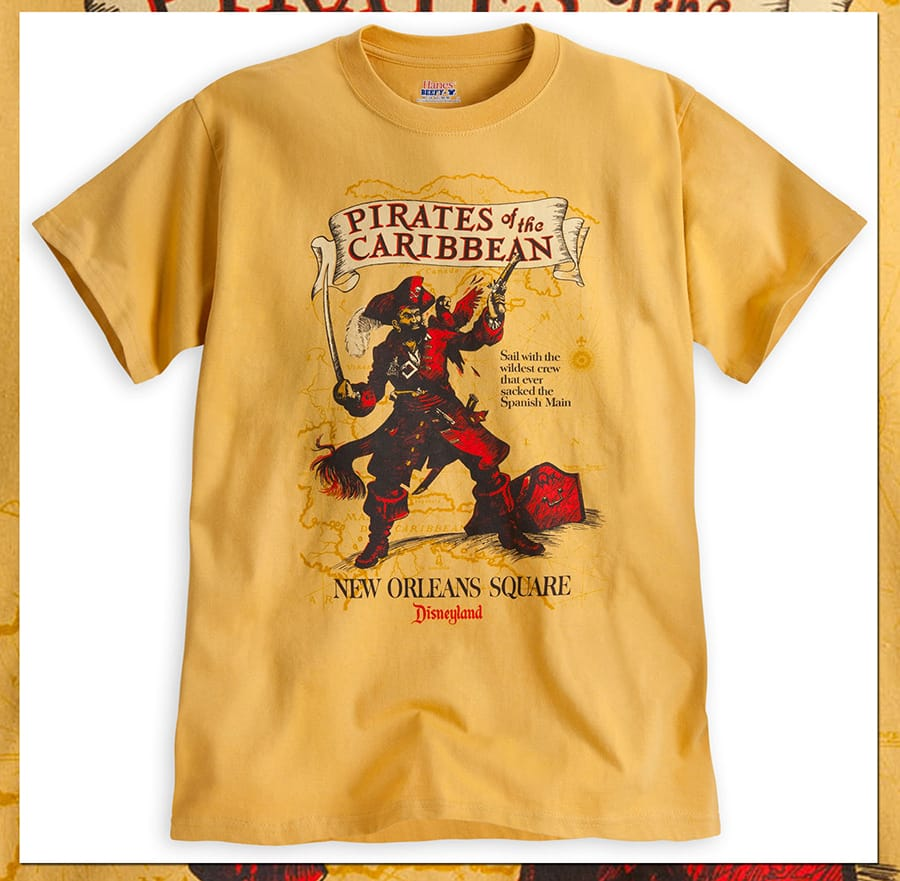 87ed92f39 Pirates of the Caribbean T-Shirts Set Sail on Disney Parks Online ...