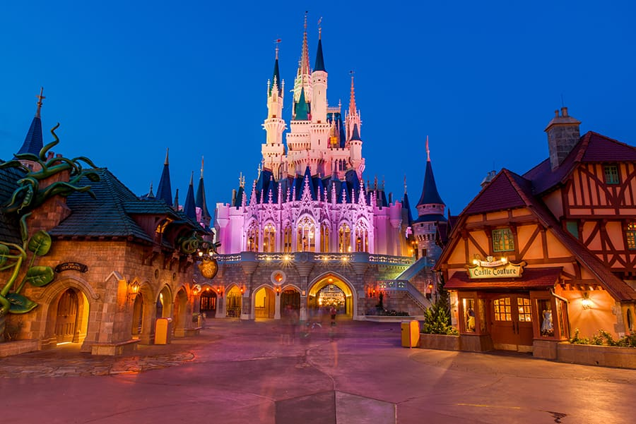 Magic Kingdom's Fantasyland at night
