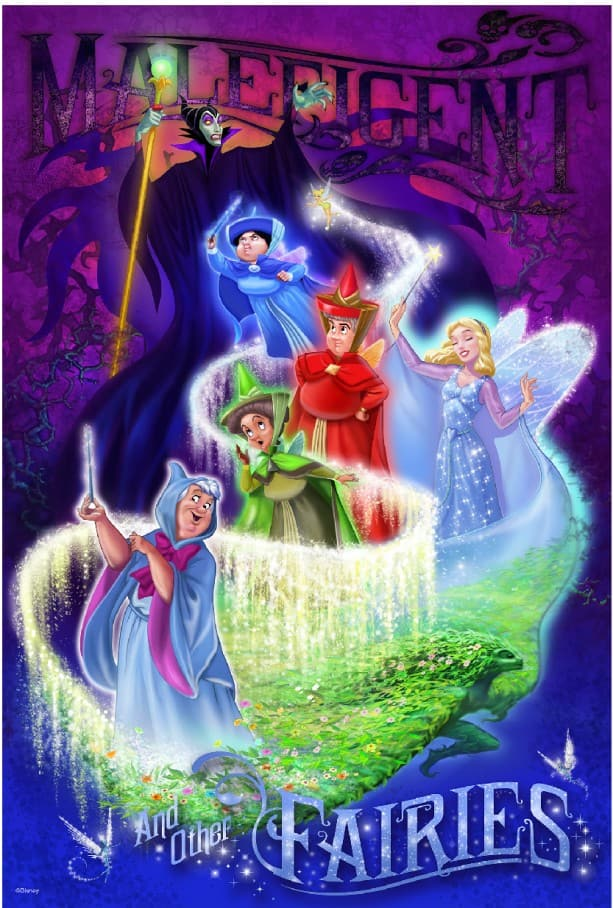 10851102c3 Maleficent and Fairies Poster