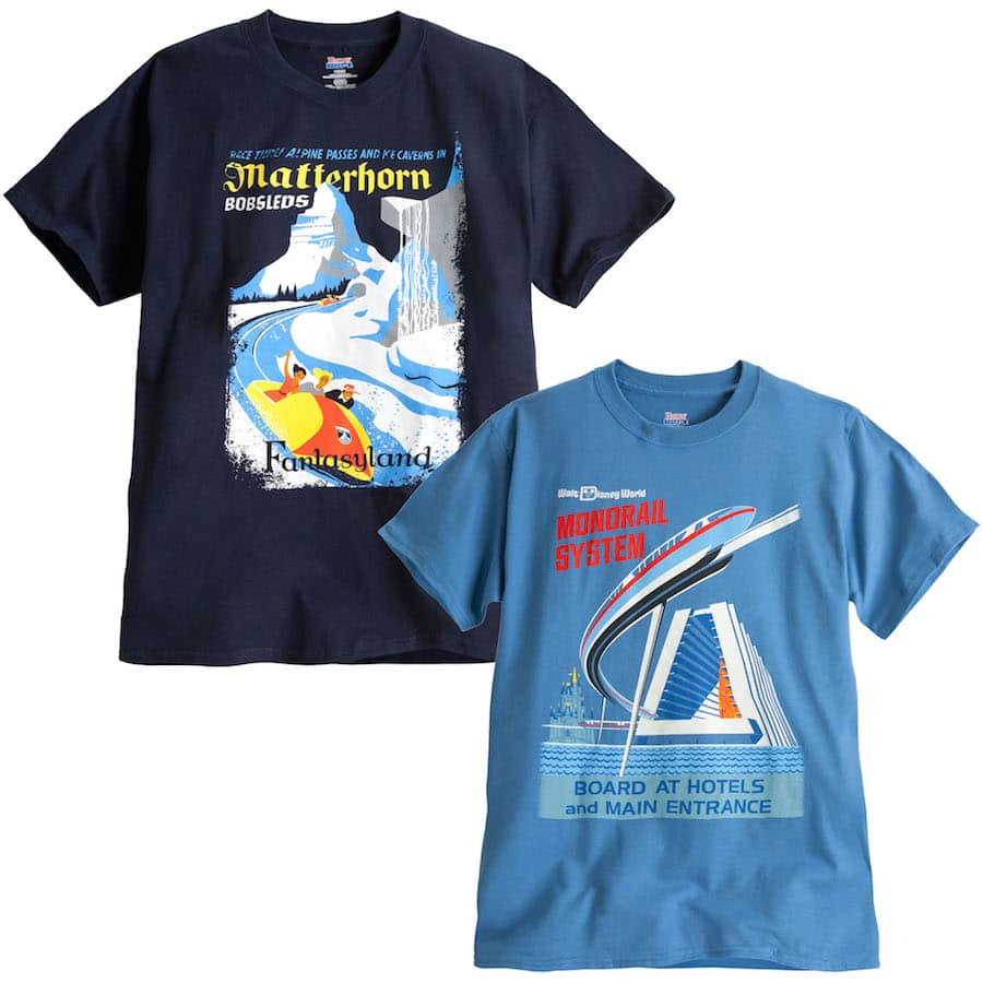 8328c1aad Matterhorn Bobsleds and Monorail Shirts Coming to Disney Parks Online Store  Starting August 18