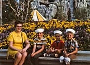 @KrazyKevinWolff: My Dad, Uncles, & Grammy at the @Disneyland #Matterhorn Bobsleds in the late '60s