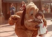 @eilonwey28: 1970's Disneyland. Me and Pluto on Main St. - taken by my Dad in Mar. 1977, on my 2nd birthday