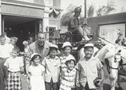 @RizzosCookies: 1955 Disneyland Opening Week. Cousins w/ Mr. Walt Disney @Disneyland Fire Station